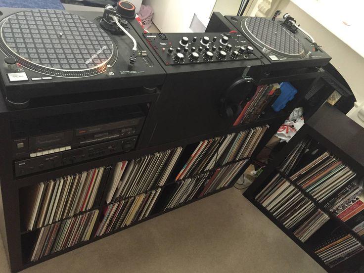 all dark and vinyl collection dj setup at. Black Bedroom Furniture Sets. Home Design Ideas