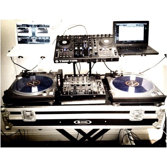 Two Laptops and Turntables