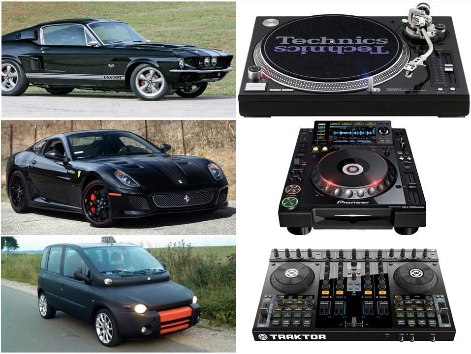 Cars and DJ Equipments Comparison