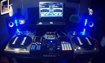 Cool Setup with Blue Lights