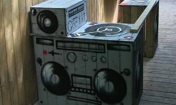 Custom Painted DJ Booth