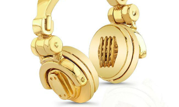 Gold Headphones