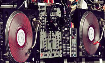 Nice Capture of a DJ Setup