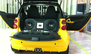 Yellow Car with DJ Booth