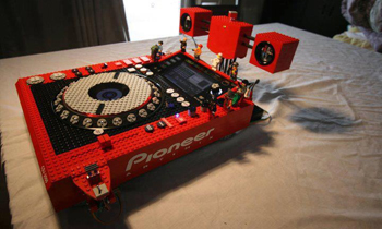 Cool Pioneer CDJ Made of Lego