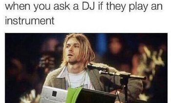 DJ Playing Instrument
