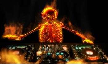 DJ Skeleton on Fire