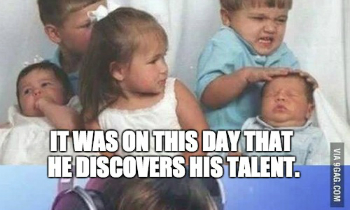Kid Discovered His Talent