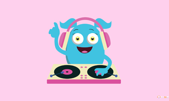 Cute Girly Monster DJ
