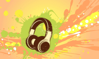 Headphones Abstract
