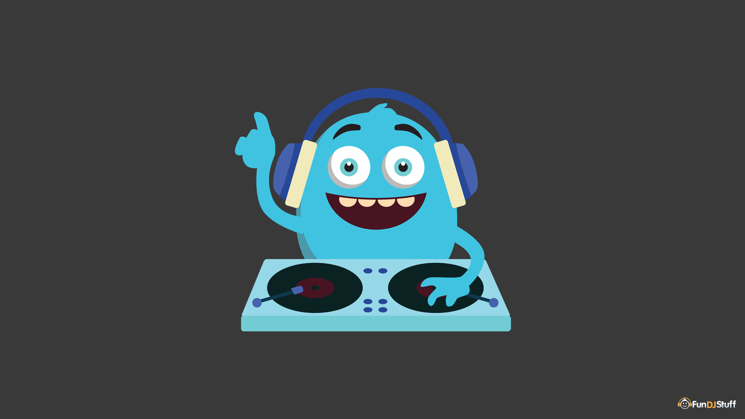 Cute Monster DJ Wallpaper
