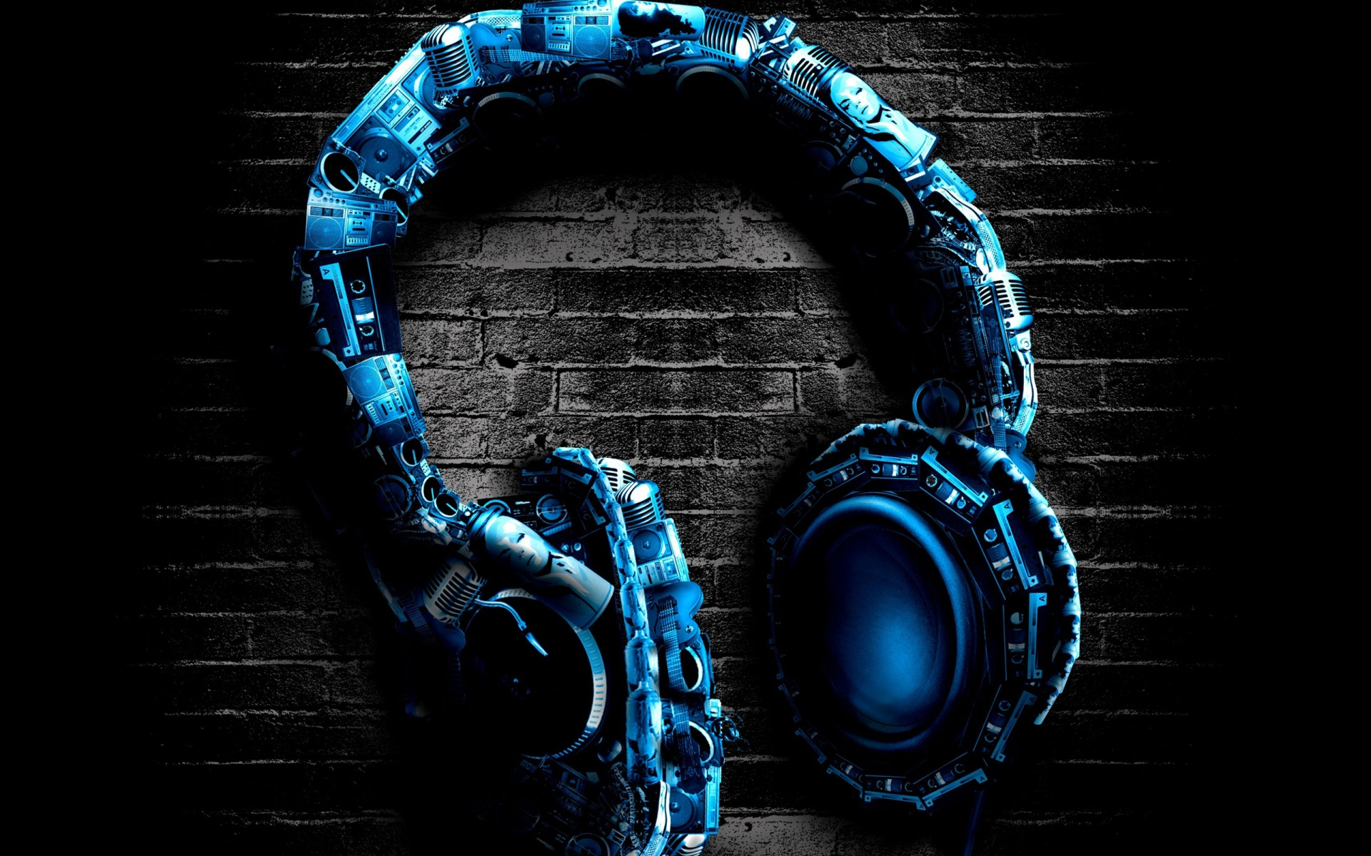 Digital Headphones Wallpaper
