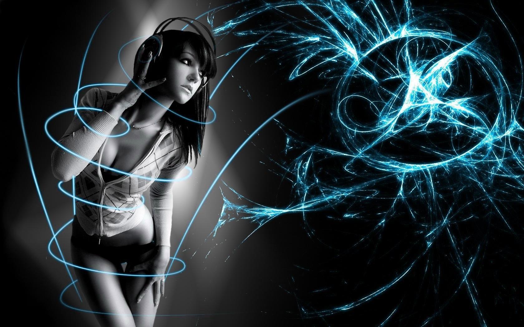 Fantasy girl dj wallpaper for Dark house music