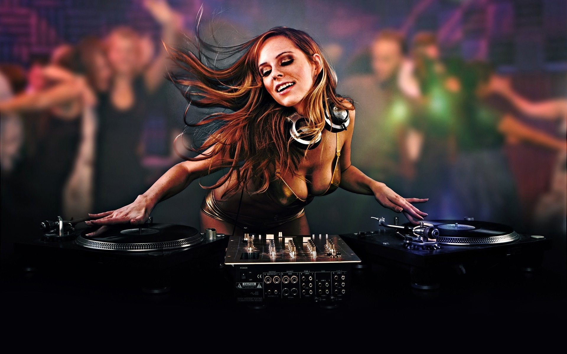 Girly DJ Mixing Wallpaper - FunDJStuff.com.