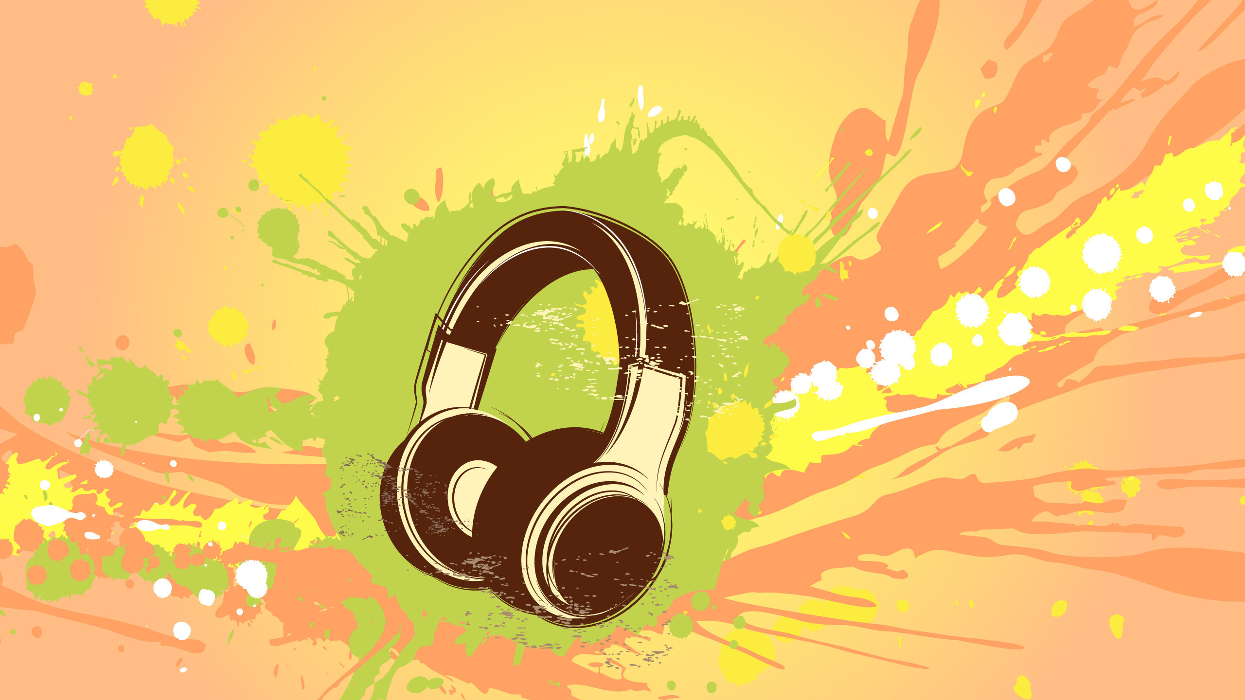 Headphones Abstract Wallpaper