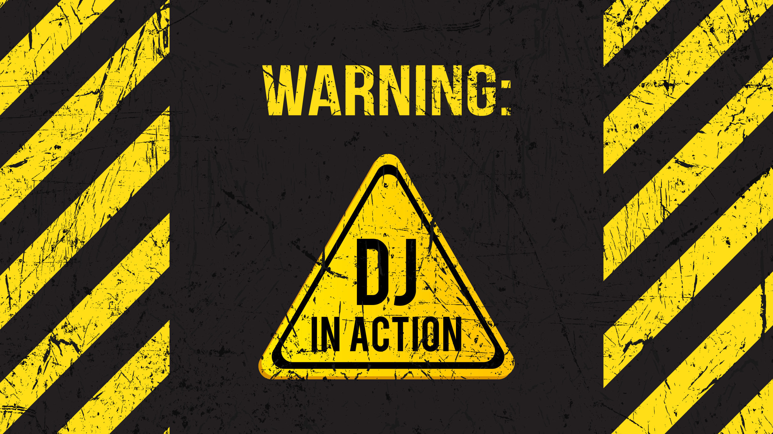 Warning DJ in Action Wallpaper