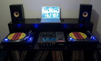 Bedroom DJ with Vinyl Collection