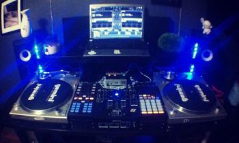 Cool Setup with Blue Lights