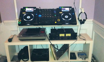 DJ Setup in IKEA Furniture