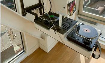 Fold Down DJ Table