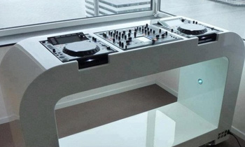 Futuristic DJ Table with Cool View