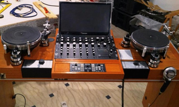 Retro Turntable and Mixer