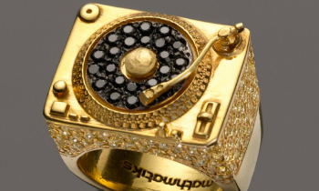 Gold Turntable Ring