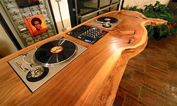 Wooden DJ table
