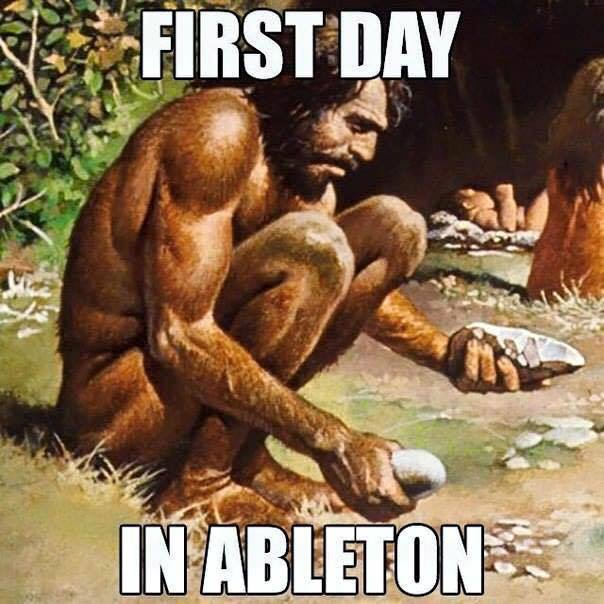 First Day in Ableton