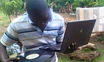 Vinyl on Laptop