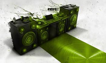 Abstract DJ Setup