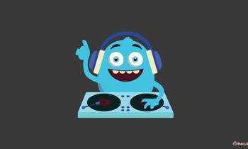 Cute Monster DJ